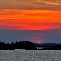 Fine di un tramonto in laguna - GianlucaMoretti - Comacchio (FE)
