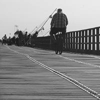 Pescatore in bici - Nataliya Balysheva - Comacchio (FE)