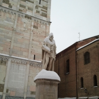 Ghirlandina and Tassoni under the Snow - Alien life form - Modena (MO)
