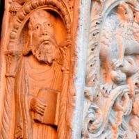 Profeta e decorazione portale centrale - Chiara Salazar Chiesa - Modena (MO)