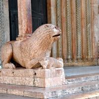 Uno dei leoni stilofori della Porta Regia Duomo di Modena - Chiara Salazar Chiesa - Modena (MO)