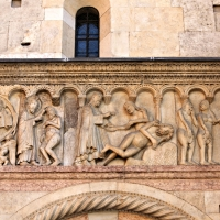 Creazione dell'uomo, della donna e peccato originale Wiligelmo - Mongolo1984 - Modena (MO)