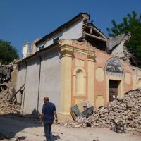 Facciata danni terremoto 29-05-2012, Chiesa di San Giuseppe o Madonna del Mulino - San Felice sul Panaro - Mimmo Ferrari - San Felice sul Panaro (MO)