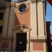 Facciata centrale danno terremoto 29-05-2012, Oratorio di Santa Croce - San Felice sul Panaro - Mimmo Ferrari - San Felice sul Panaro (MO)
