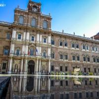 Piazza Roma, durante il restauro - Angelo nacchio - Modena (MO)