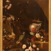 Agostino stringa, natura morta con aquila, pappagallo e fiori, 1690 ca - Sailko - Modena (MO)