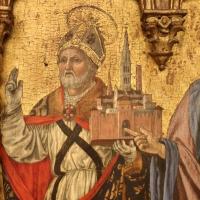 Angelo e bartolomeo degli erri, polittico dell'ospedale della morte, 1462-66, 08 gemignano con modellino di modena - Sailko - Modena (MO)