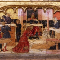 Angelo e bartolomeo degli erri, polittico dell'ospedale della morte, 1462-66, predella 04 banchetto di erode - Sailko - Modena (MO)