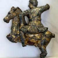 Arte romana, applique da finimento equino con cavaliere al galoppo, bronzo, I-II secolo dc 01 - Sailko - Modena (MO)
