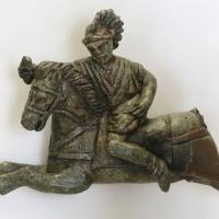Arte romana, applique da finimento equino con cavaliere al galoppo, bronzo, I-II secolo dc 02 - Sailko - Modena (MO)
