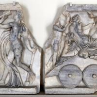 Arte romana, frammenti di sarcofago col trionfo di bacco e arianna, 150 dc ca - Sailko - Modena (MO)