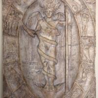 Arte romana, rilievo con aion-phanes entro lo zodiaco, 150 dc ca., probabilmente da un mitreo - Sailko - Modena (MO)