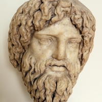 Arte romana, testa colossale di giove o asclepio, 150-200 dc ca - Sailko - Modena (MO)