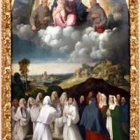 Bottega di dosso e battista dossi, apparizione della madonna col bambino tra i ss. francesco e bernardino ai confratelli della neve, 1530-40 ca. 01 - Sailko - Modena (MO)