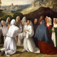 Bottega di dosso e battista dossi, apparizione della madonna col bambino tra i ss. francesco e bernardino ai confratelli della neve, 1530-40 ca. 05 - Sailko - Modena (MO)
