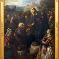 Domenico tintoretto, cristo consegna le chiavi a san pietro alla presenza degli apostoli e delle ss. giacinta e giustina, 1597-1601 - Sailko - Modena (MO)