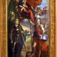 Dosso dossi, madonna col bambino tra i ss. giorgio e michele, 1518-19, 01 - Sailko - Modena (MO)