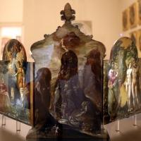 El greco, altarolo portatile, 1567-68, 04 consegna delle tavolo della legge e dell'arca dell'allenaza sul sinai - Sailko - Modena (MO)