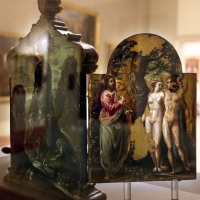 El greco, altarolo portatile, 1567-68, 05 adamo ed eva al cospetto di dio padre - Sailko - Modena (MO)