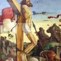 Francesco bianchi ferrari, crocifissione coi ss. girolamo e francesco (pala delle tre croci), 1490-95 ca. 02 - Sailko - Modena (MO)