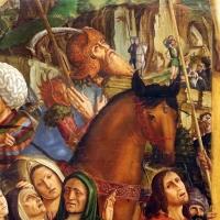 Francesco bianchi ferrari, crocifissione coi ss. girolamo e francesco (pala delle tre croci), 1490-95 ca. 05 cavallo - Sailko - Modena (MO)