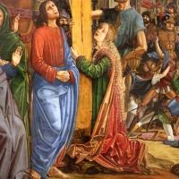 Francesco bianchi ferrari, crocifissione coi ss. girolamo e francesco (pala delle tre croci), 1490-95 ca. 08 dolenti - Sailko - Modena (MO)