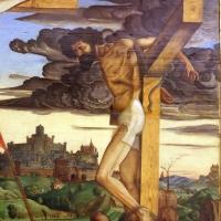 Francesco bianchi ferrari, crocifissione coi ss. girolamo e francesco (pala delle tre croci), 1490-95 ca. 11 - Sailko - Modena (MO)