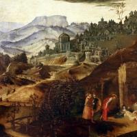 Francesco bianchi ferrari, crocifissione coi ss. maddalena, domenico e pietro martire, 1500-10 ca. 04 paesaggio - Sailko - Modena (MO)