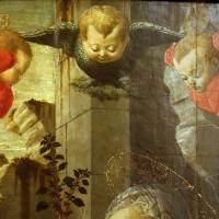 Francesco botticini, adorazione del bambino, 1470-80 ca. 02 cherubino e serafini - Sailko - Modena (MO)