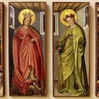 Germania meridionale, annunciazione, ss. margherita e dorotea, visitazione, 1450 ca. 01 - Sailko - Modena (MO)