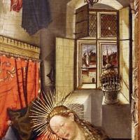 Germania meridionale, annunciazione, ss. margherita e dorotea, visitazione, 1450 ca. 03 - Sailko - Modena (MO)