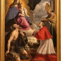 Giovan battista pesari, madonna col bambino e i ss. pellegrino, carlo borromeo e nicola, 1635 ca - Sailko - Modena (MO)