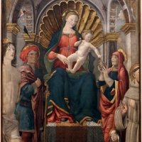 Giovanni antonio bazzi, madonna col bambino e santi, 1480-1500 ca. 01 - Sailko - Modena (MO)