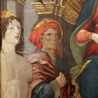 Giovanni antonio bazzi, madonna col bambino e santi, 1480-1500 ca. 02 sebastiano e gioacchino - Sailko - Modena (MO)