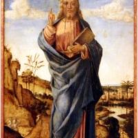 Lazzaro bastiani (attr.), redentore benedicente, 1490-1510 ca - Sailko - Modena (MO)