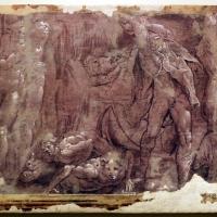 Leolio orsi, frammenti di affreschi dalla rocca di novellara, 1546 ca., scena di diluvio con deucalione e pirra 01 - Sailko - Modena (MO)
