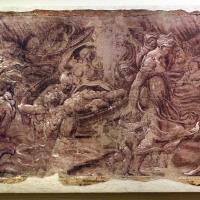 Leolio orsi, frammenti di affreschi dalla rocca di novellara, 1546 ca., scena di diluvio con deucalione e pirra 02 - Sailko - Modena (MO)