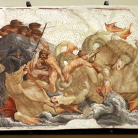 Leolio orsi, frammenti di affreschi dalla rocca di novellara, 1555-56 ca., 03 scena di diluvio con divinità marine - Sailko - Modena (MO)