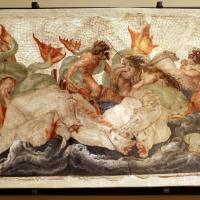 Leolio orsi, frammenti di affreschi dalla rocca di novellara, 1555-56 ca., 05 scena di diluvio con divinità marine - Sailko - Modena (MO)