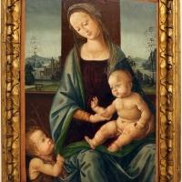 Maestro della conversazione di santo spirito, forse giovanni cianfanini, madonna col bambino e san giovannino, 1500-20 ca - Sailko - Modena (MO)