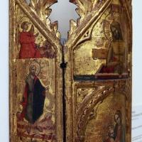 Maestro di torre di palme (attr.), madonna col bambino, cristo nel sepolcro, annunciazione e santi, 1370-1400 ca. 01 - Sailko - Modena (MO)