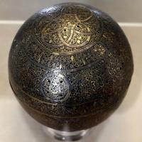 Manifattura siriana o egiziana, bruciaprofumi in ottone con intarsi in argento, xiii-xiv secolo 01 - Sailko - Modena (MO)
