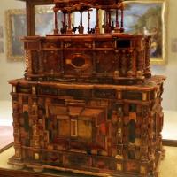 Manifattura tedesca, stipo in legno, ottone, vetro, ambra e avorio, 1625 ca. 03 - Sailko - Modena (MO)