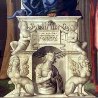 Marco meloni, madobnna col bambino e santi, 1504, 02 ara con putti, arpie e santa alla raffaello - Sailko - Modena (MO)