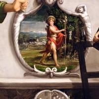 Niccolò dell'abate, madonna in trono col bambino e i ss. francesco, chiara, jacopo e lorenzo, 1540-41 ca. 03 san giovannino - Sailko - Modena (MO)