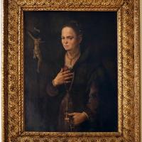 Scuola ferrarese, ritratto di dona con crocifisso, 1570-90 ca - Sailko - Modena (MO)