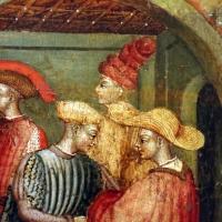 Secondo maestro di carpi, leggenda di san giovanni boccadoro (crisostomo), 1430 ca. 11 cappelli - Sailko - Modena (MO)