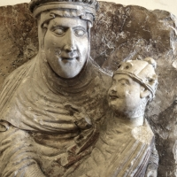 Wiligelmo, madonna dei cattania, 1100-1120 ca., dalla sagra di carpi 02 - Sailko - Modena (MO)