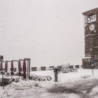 L'inverno veste di bianco la piazza della dama a Castelvetro - Luca Nacchio - Castelvetro di Modena (MO)