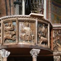 Anselmo da campione e aiuti, pontile del duomo di modena, 1160-80 ca., ambone coi simbolio degli evangelisti del 1208-1225 ca. 02 - Sailko - Modena (MO)